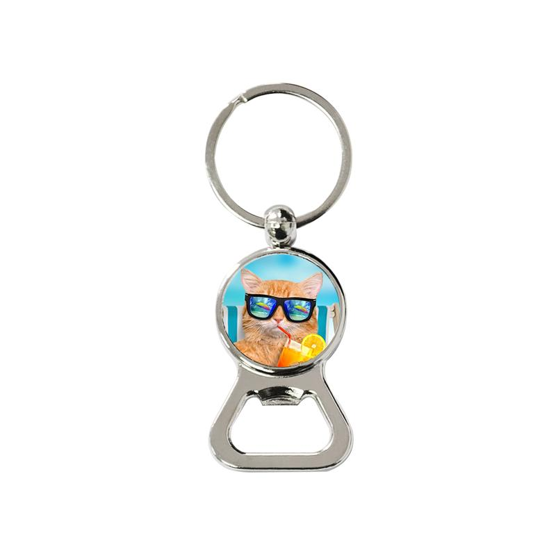 Sublimation blank bottle opener keyring