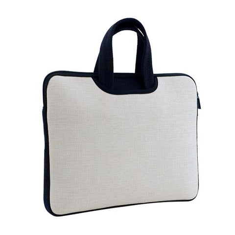 Sublimation blank linen laptop bag