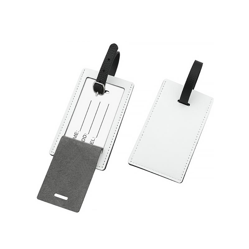Sublimation blank pu leather luggage tag