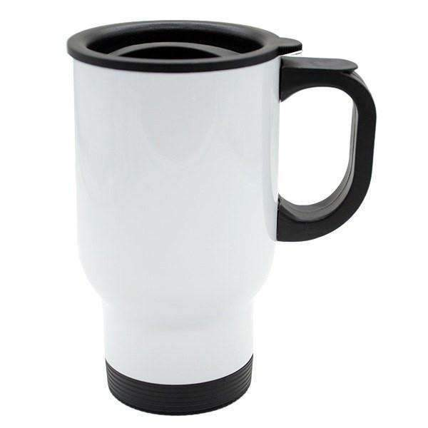 24 x 14 oz Stainless Steel Travel Mug white