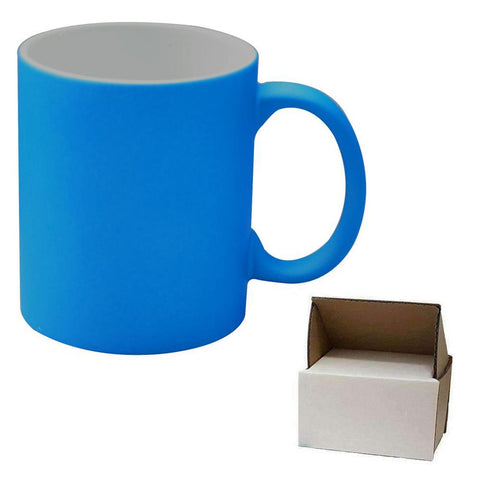 sublimation blue neon mug