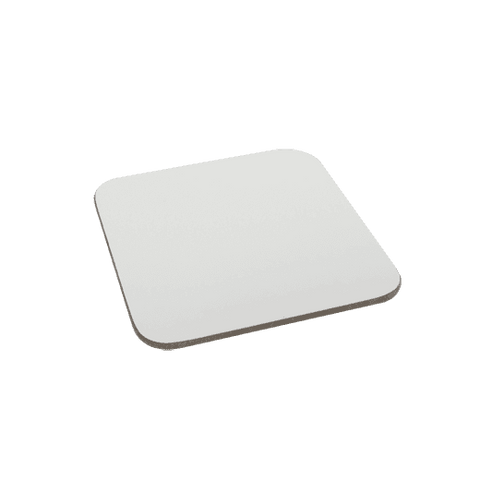 Fabric Square coaster with black rubber base