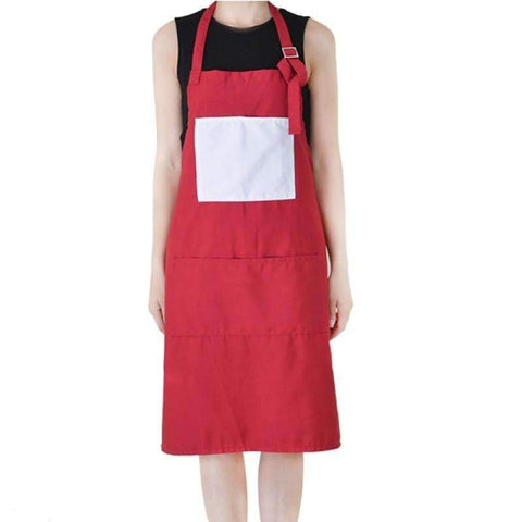 Adult Apron with Pocket - Red