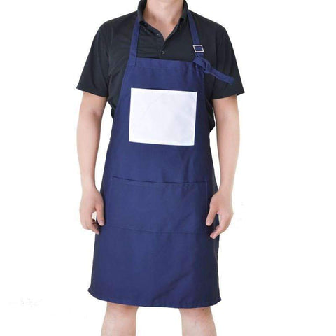 Adult Apron with Pocket - Blue