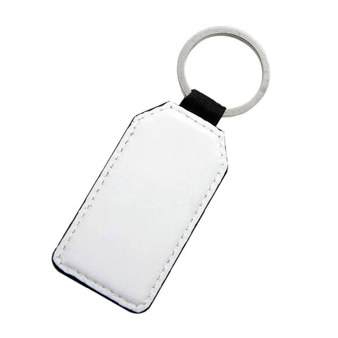 Rectangle - PU Leather Keyring