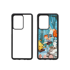galaxy s20 ultra sublimation blank rubber black phone case