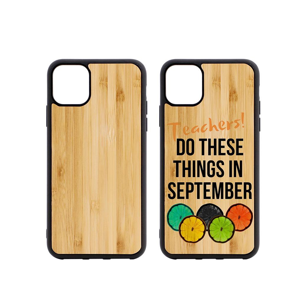 iPhone 11 6.1 sublimation blank bamboo case