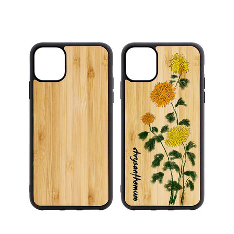 iPhone 11 6.5 sublimation blank bamboo case