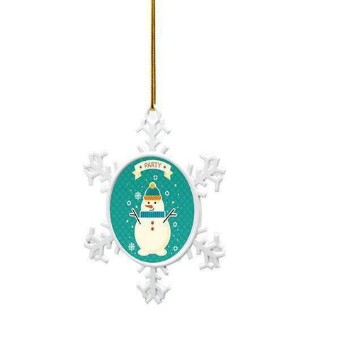 Sublimation blank Metal Christmas Snowflake