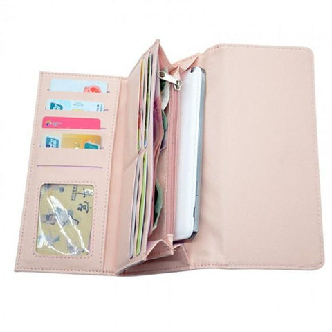 sublimation blank pu sublimation wallet pink