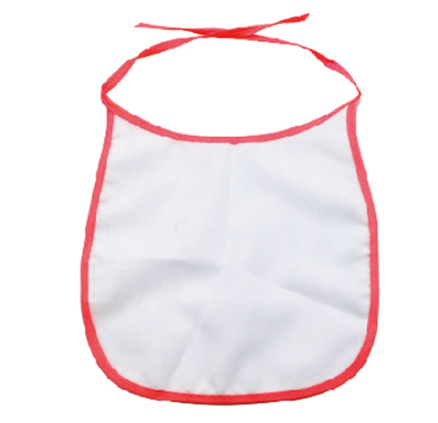 sublimation blank baby bib red