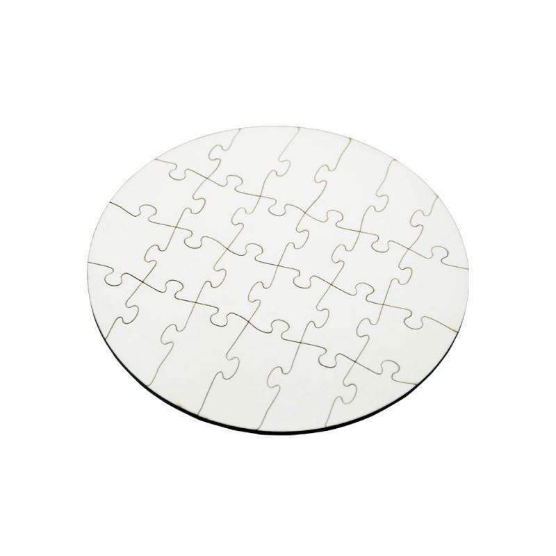 round sublimation mdf jigsaw