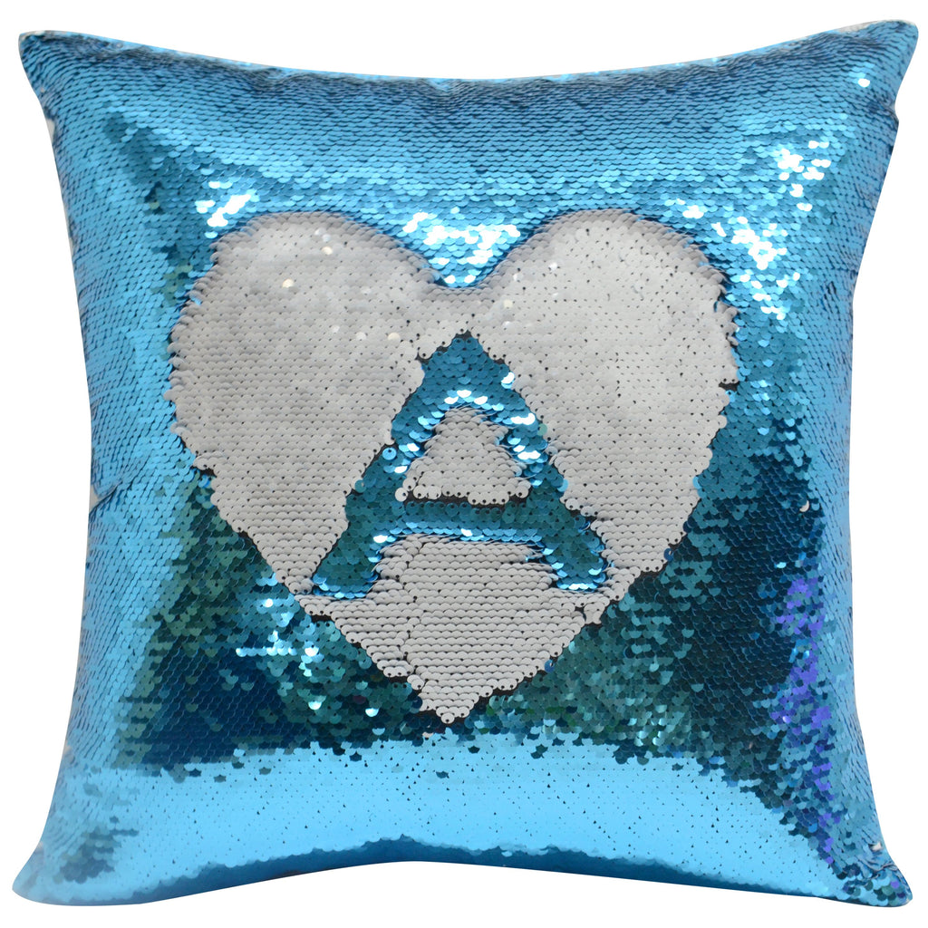 blue sublimation blank sequin cushion cover