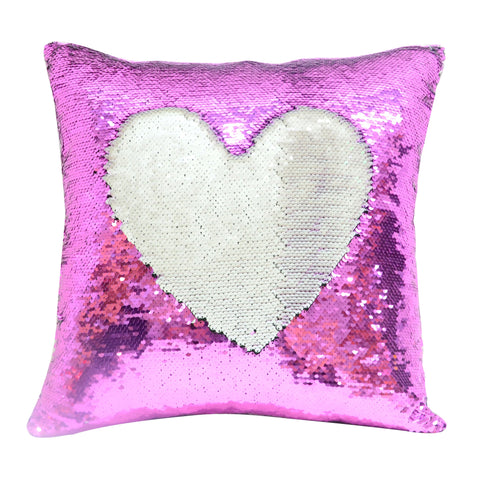 Hot pink sublimation blank sequin cushion cover