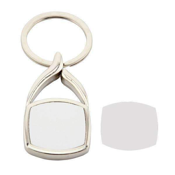Sublimation blank Swirl top Metal Keyring