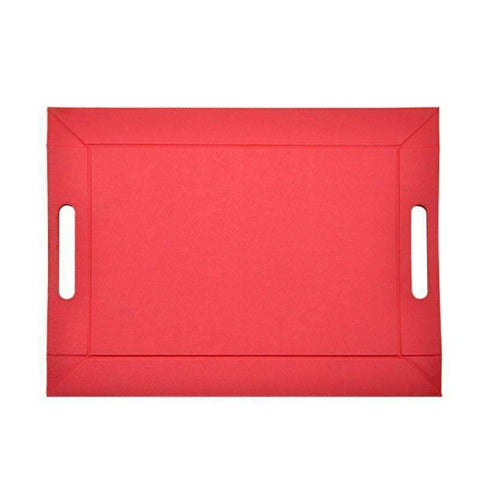 sublimation red serving tray