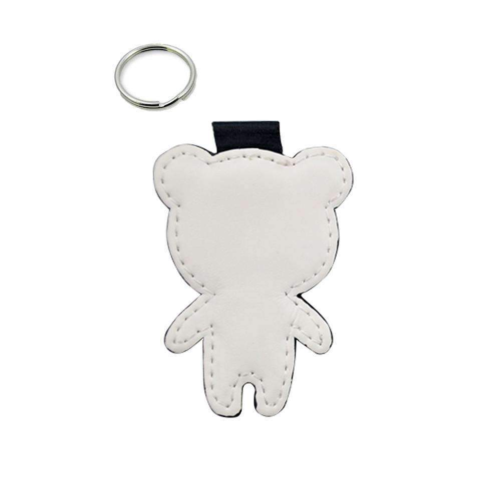 Sublimation blank Bear - PU Leather Keyring