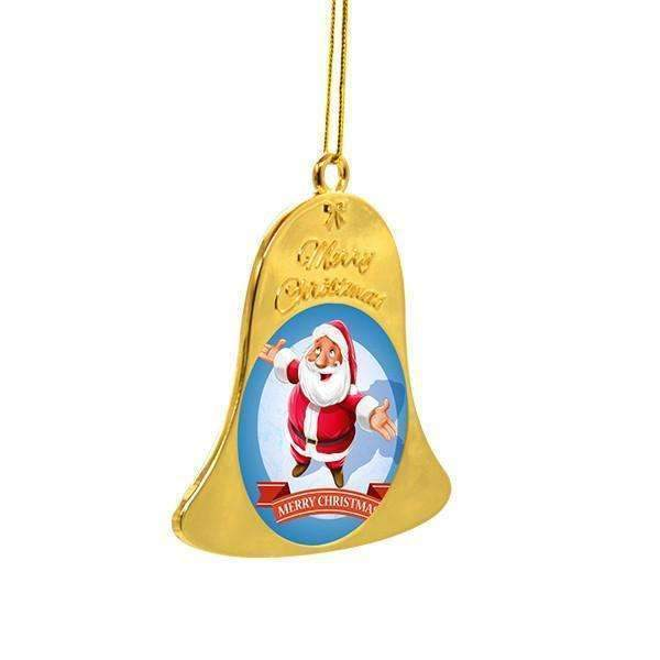 Sublimation blank Metal Christmas Bell - Gold