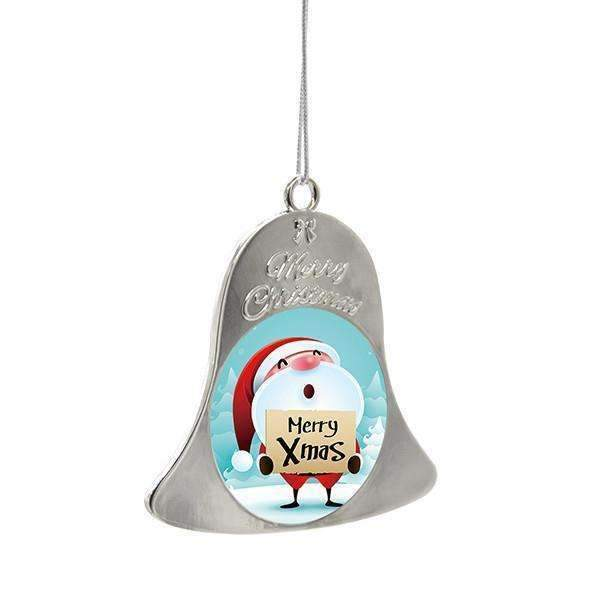 Sublimation blank Metal Christmas Bell - Silver