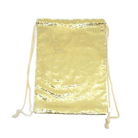 sublimation blank gold drawstring bag