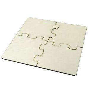 Sublimation blank Jigsaw MDF Coaster 4pcs w/cork