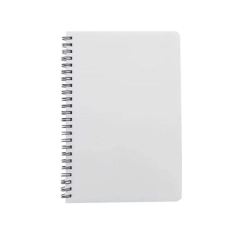 Sublimation blank Spiral Notepad - Plastic cover A5