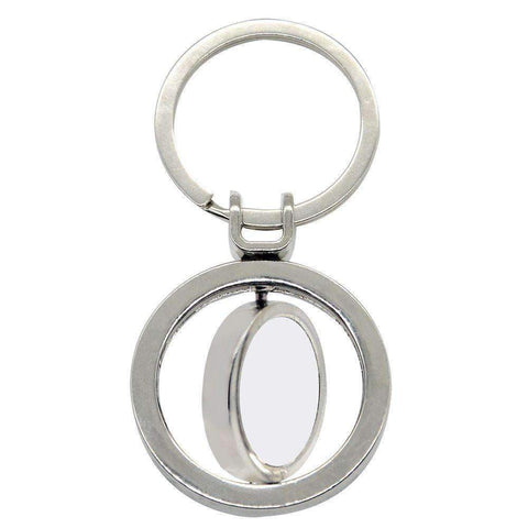 Sublimation blank Double spinning round metal keyring