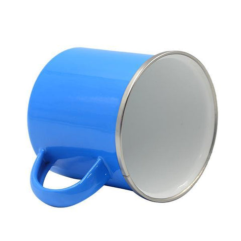 sublimation blank blue enamel mug