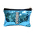 Blue Sequin cosmetic pouch - 15 x 20 cm