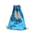 Blue Sequin drawstring bag - 34 x 45 cm