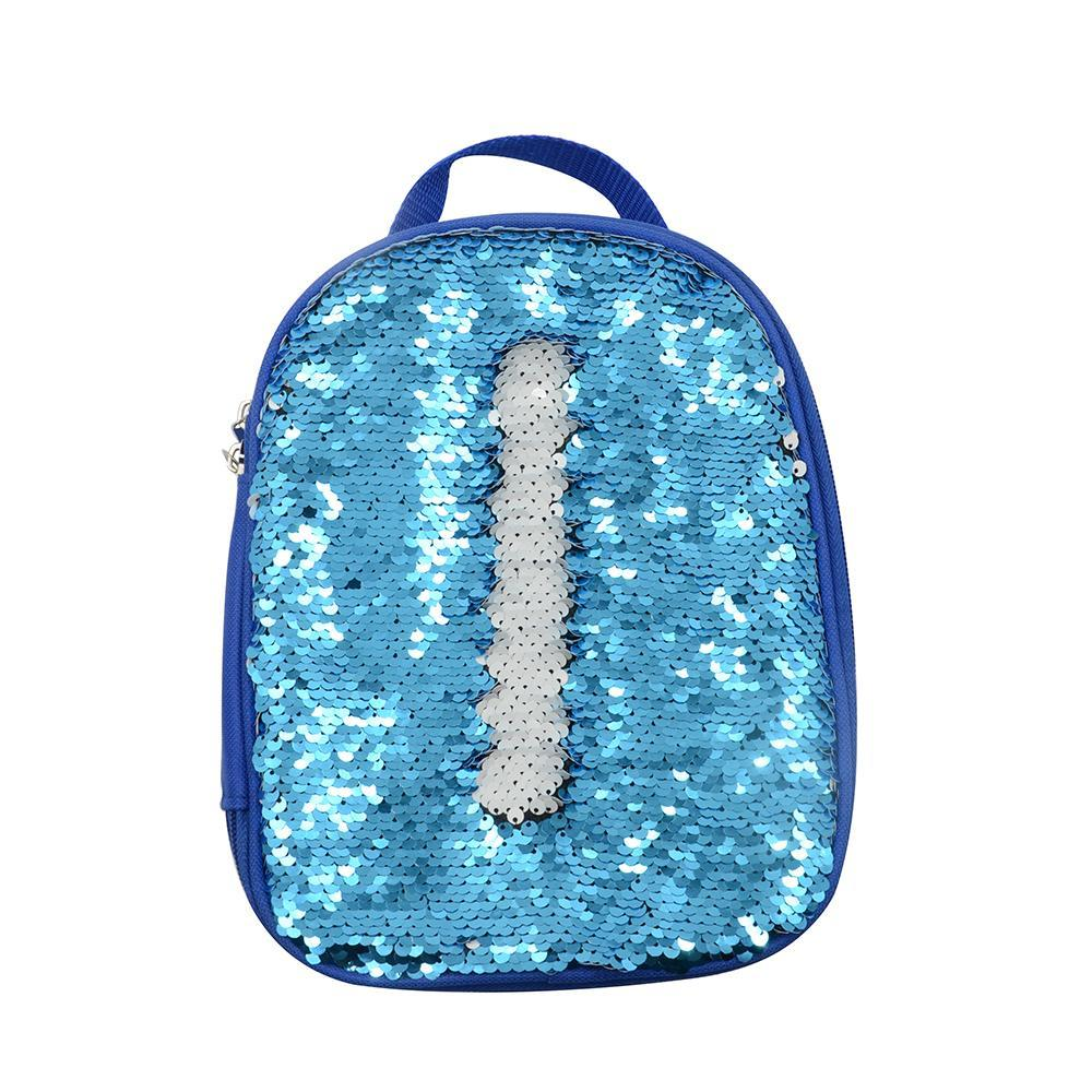 sublimation blank blue sequin magic lunch bag