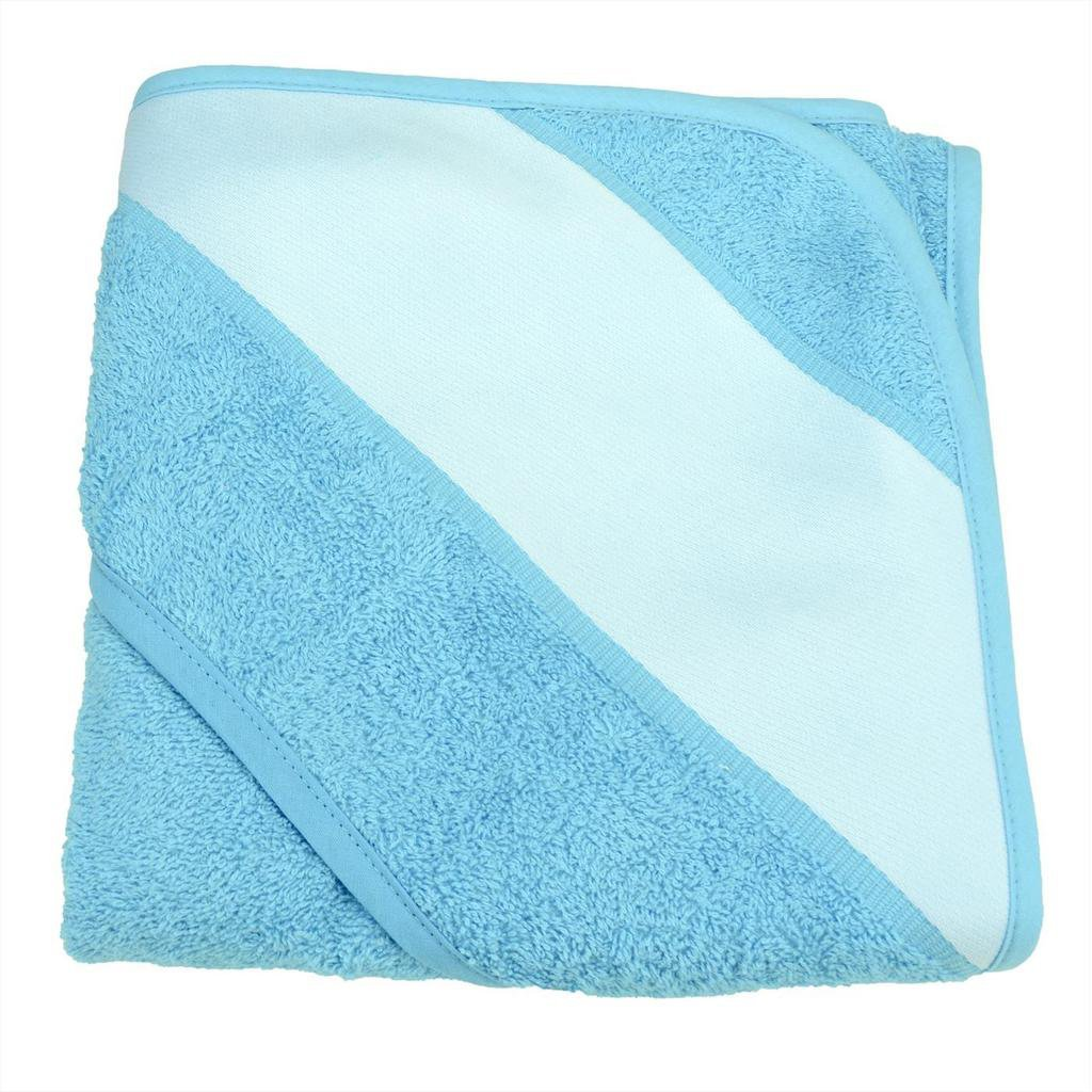 sublimation blank blue baby towel with hood
