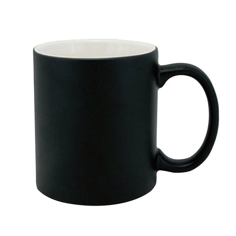 sublimation blank colour changing mug black matte