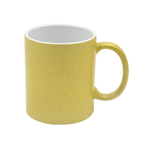 Single 11oz Gold Glitter Mug + Includes mug box