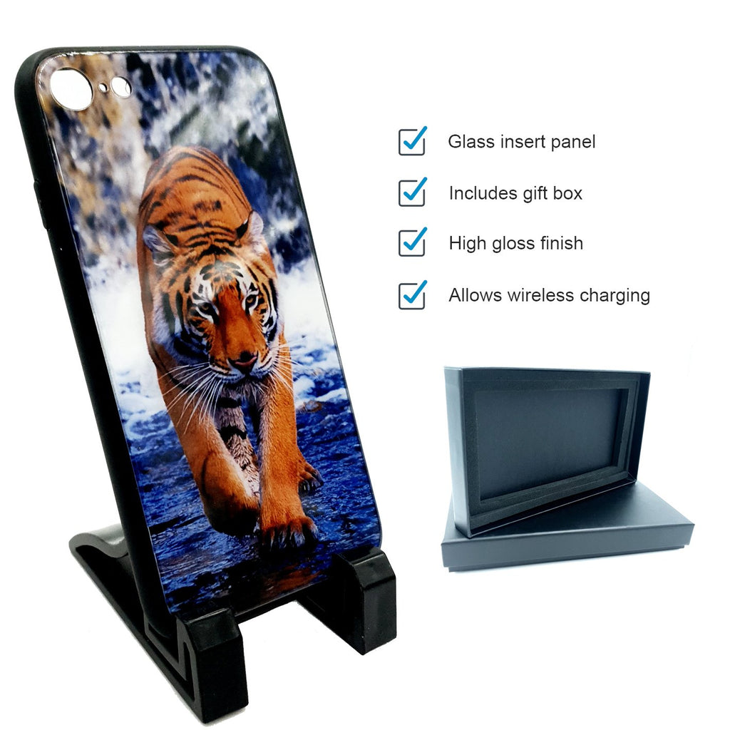 sublimation blank iphone 7 8 glass phone case