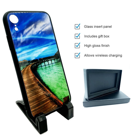 sublimation blank iphone xr glass phone case