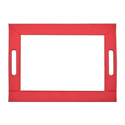sublimation blank leather serving tray red