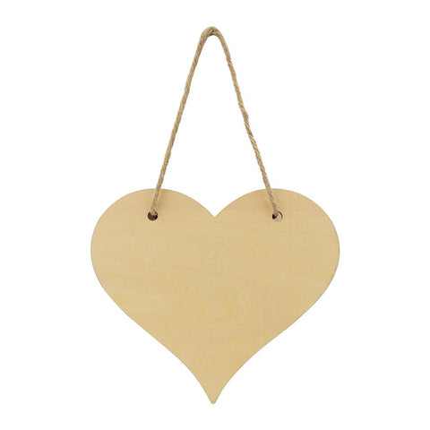sublimation blank natural heart plaque