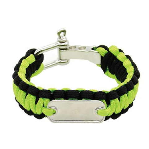 sublimation blank paracord bracelet green and black