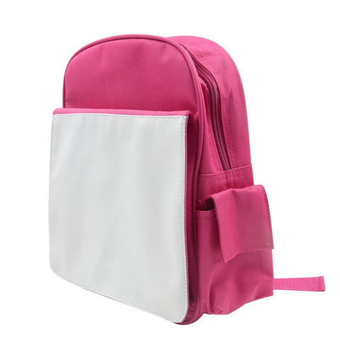 sublimation blank pink backpack kids