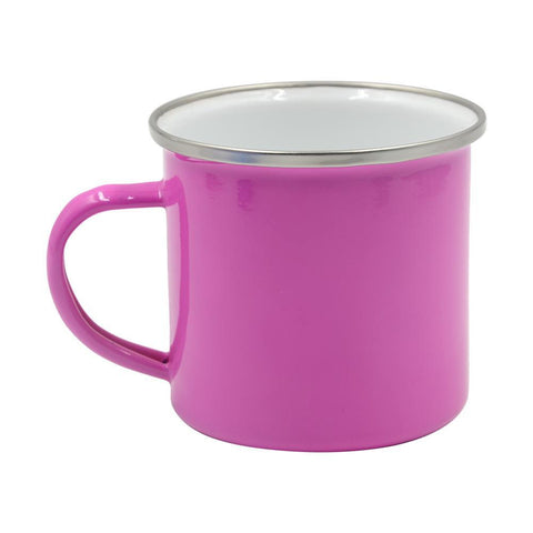 1 x Single Pink Enamel 10oz Photo Mug + Gift  box