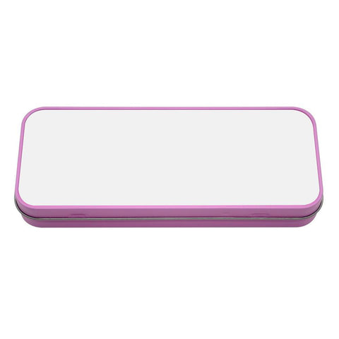 sublimation blank pink pencil tin