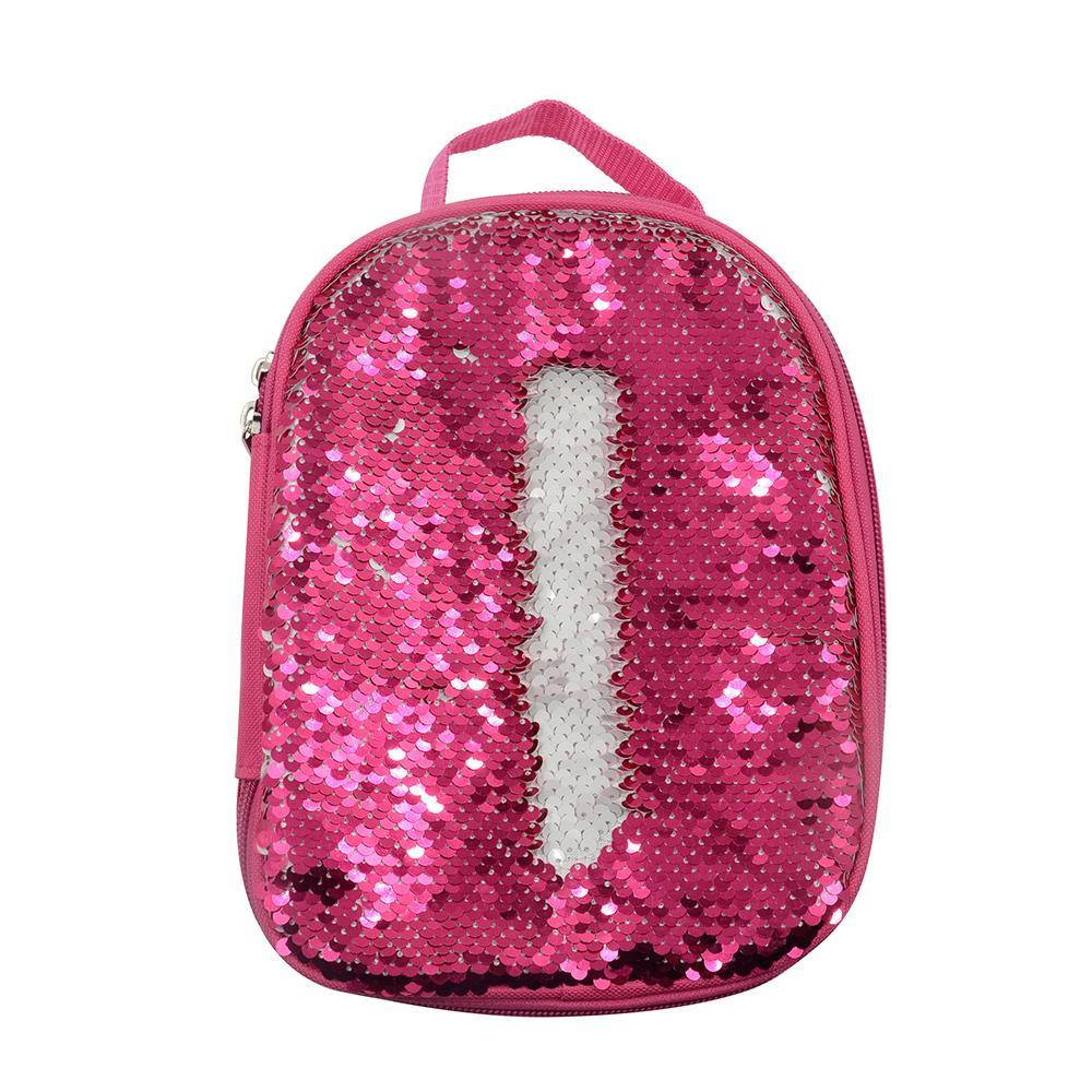 sublimation blank pink sequin magic lunch bag