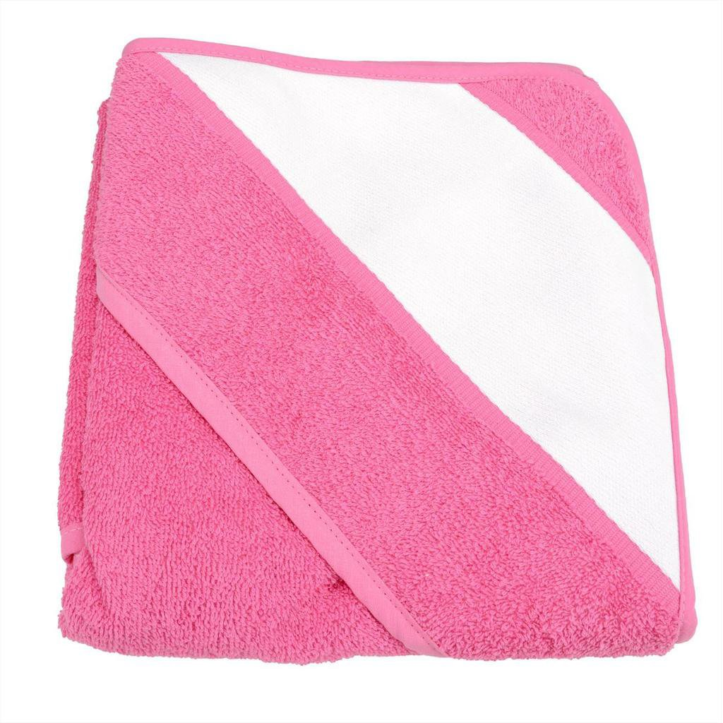 sublimation blank pink baby towel with hood