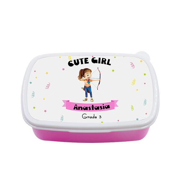 sublimation blank plastic lunch box pink