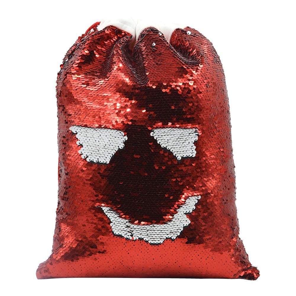 sublimation blank red sequin christmas sack