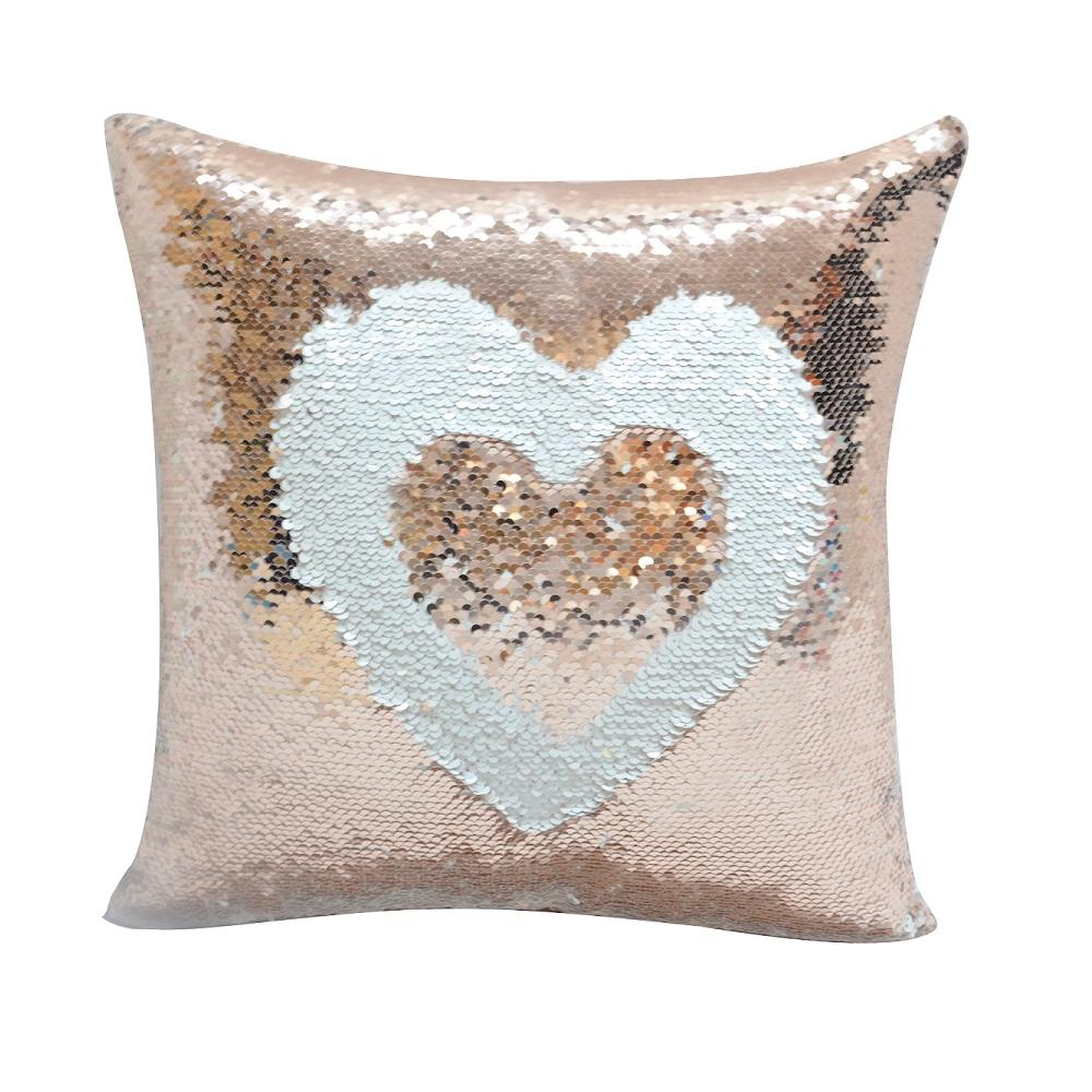 sublimation blank sequin pillow case- champagne-1