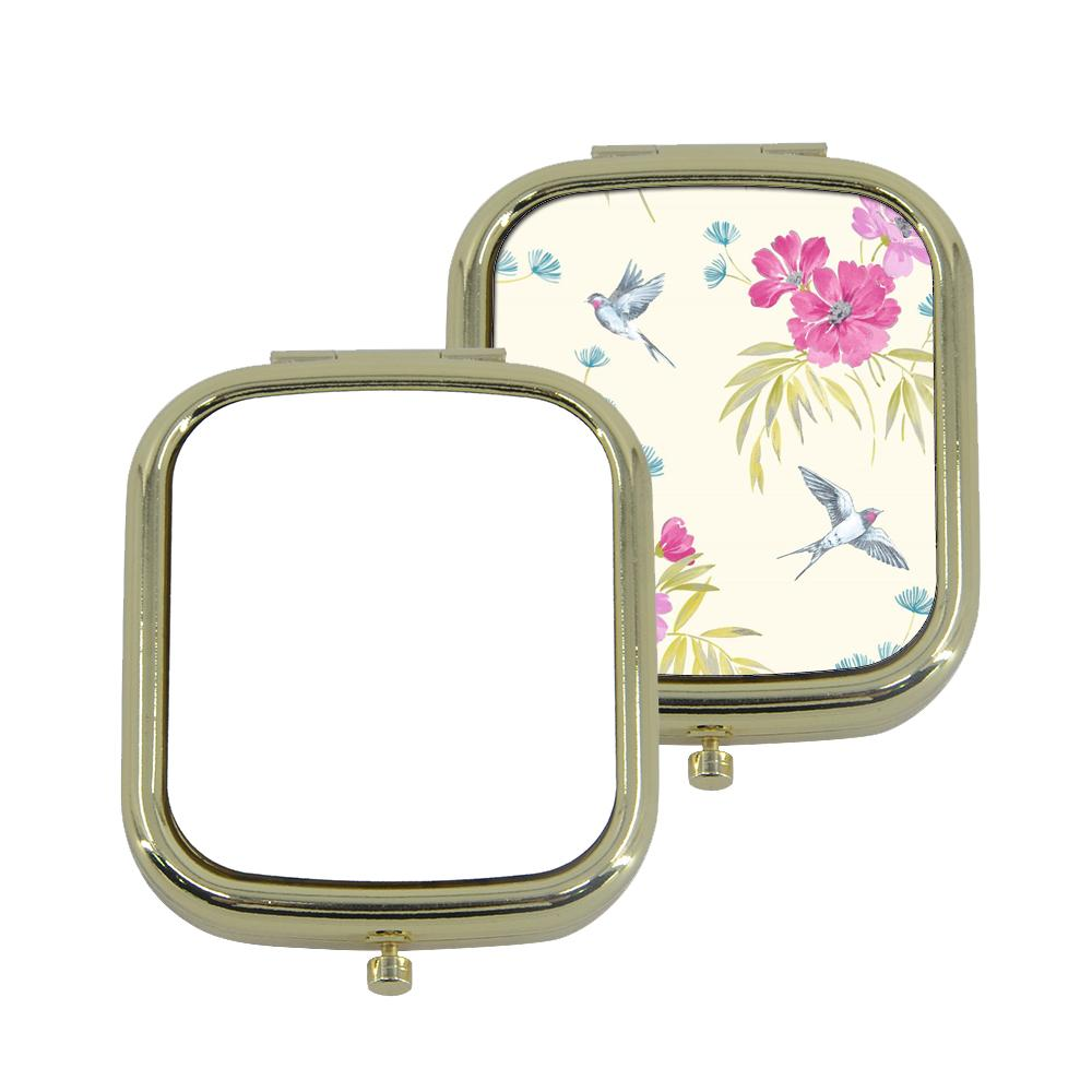sublimation blank square compact mirror gold