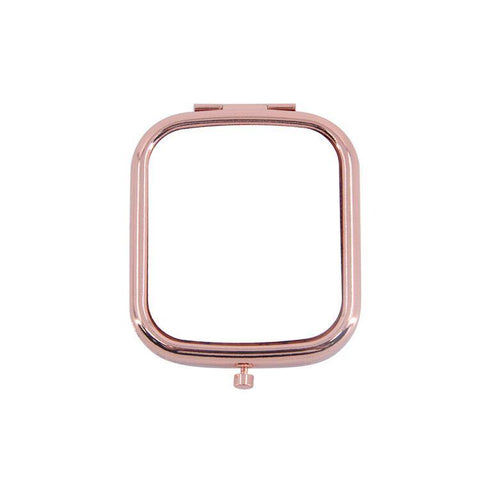 sublimation blank square compact mirror rose gold