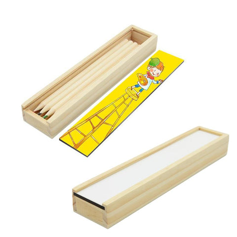 sublimation blank wooden pencil case